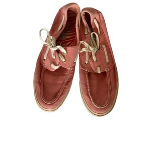 Sperry top siders size 7 pink boat shoes